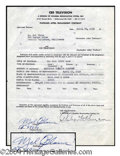 Autographs, Mel Blanc Signed Television Contract
