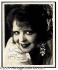 Autographs, Clara Bow Vintage Signed Photo