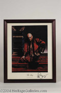 Autographs, Yul Brynner King And I Signed Linen Print