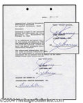 Autographs, Jim Carrey Rare Early Signed Document