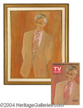 Autographs, Johnny Carson TV Guide Original Painting