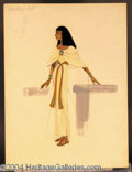 Autographs, Cleopatra Costume Sketch Ivory Gown