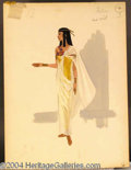 Autographs, Cleopatra Costume Sketch for Tula