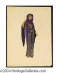 Autographs, Cleopatra Costume Sketch of Black Gown