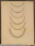 Autographs, Cleopatra Costume Sketch of 6 Necklaces