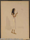 Autographs, Cleopatra Costume Sketch for Aseneth