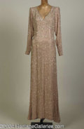 Autographs, Joan Collins Dynasty Nude Beaded Gown