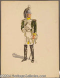 Autographs, Costume Sketch of Military Man