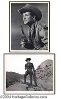 Autographs, Classic Cowboys Signed Photo Lot