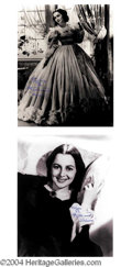 Autographs, Olivia de Havilland Signed 11 x 14 GWTW Photo Lot
