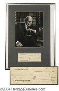 Autographs, Cecil B. DeMille Signed Check & Photo