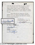 Autographs, Jimmy Durante Signed Contract