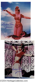 Autographs, Barbara Eden Signed Jeannie Photo Lot
