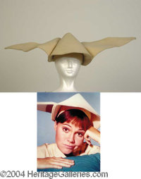 Sally Field Hat from Flying Nun - Sally Field wore this headpiece (one of several used throughout the series) in the 196...