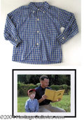 Autographs, Forrest Gump Shirt Worn by Little Forrest in Film