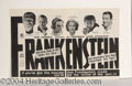 Autographs, Frankenstein 1931 Rare First Print Ad