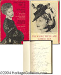 Autographs, Hedda Hopper Signed Book