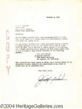 Autographs, Judy Garland Signed Document