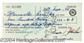 Autographs, Judy Garland Signed Bank Check