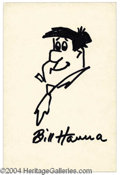 Autographs, Bill Hanna Fred Flintstone Sketch