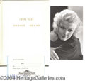 Autographs, Jean Harlow Script for China Seas & Photo