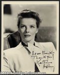 Autographs, Katharine Hepburn Scarce Signed Photo