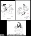Autographs, Hirschfeld Signed Sketch Lot of 6