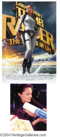 Autographs, Angelina Jolie In-Person Signed Tomb Raider II Poster