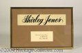 Autographs, Shirley Jones Original MGM Name Tag