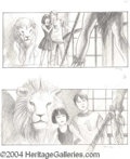 Autographs, Jumanji Storyboard Pencil Drawings