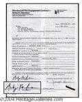 Autographs, Andy Kaufman Signed SNL Document