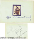 Autographs, Laurel & Hardy Vintage Signed Album Page