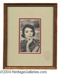 Autographs, Vivien Leigh Signed Framed Photo