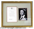 Autographs, Vivien Leigh Typed Letter Signed