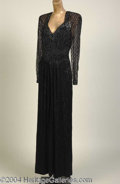 Autographs, Sophia Loren Black Beaded Nolan Miller Gown