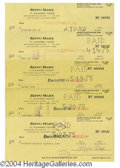 Autographs, Zeppo Marx Signed Bank Check Lot