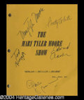 Autographs, Mary Tyler Moore Cast Signed Script