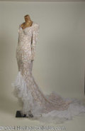 Autographs, Nolan Miller Custom White Lace Gown