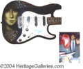 Autographs, Cher In-Person Signed Custom Guitar