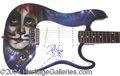 Autographs, Peter Criss KISS Signed Custom Guitar