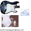 Autographs, Alice Cooper Custom Signed Guitar
