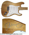 Autographs, John Cougar Mellencamp Signed Guitar