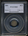 Three Cent Silver: , 1865 MS65 PCGS. The current Coin Dealer Newsletter (...