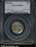 Buffalo Nickels: , 1934-D MS65 PCGS. The current Coin Dealer Newsletter (...