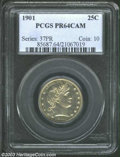 Proof Barber Quarters: , 1901 PR 64 Cameo PCGS. The current Coin Dealer ...