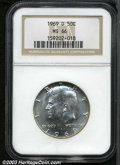 Kennedy Half Dollars: , 1969-D MS66 NGC. ...