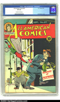 Golden Age (1938-1955):Superhero, All-American Comics #60 (DC, 1944) CGC VF 8.0 Off-white to white pages. Green Lantern and Hop Harrigan appear. Paul Reinman ...