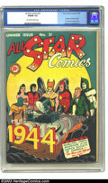 Golden Age (1938-1955):Superhero, All-Star Comics #21 (DC, 1944) CGC VG/FN 5.0 Off-white to white pages. Spectre and Atom cameo. Dr. Fate and Sandman end. Joe...
