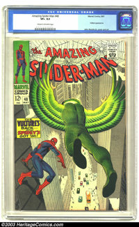 Amazing Spider-Man #48 (Marvel, 1967) CGC VF+ 8.5 Cream to off-white pages. Vulture appearance. John Romita Sr. cover an...
