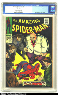 Amazing Spider-Man #51 (Marvel, 1967) CGC VF 8.0 Cream to off-white pages. Second Kingpin appearance. John Romita Sr. co...